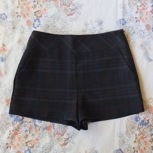 """Forever 21 Navy Blue """"Wool"""" High Waisted Shorts Sm"""